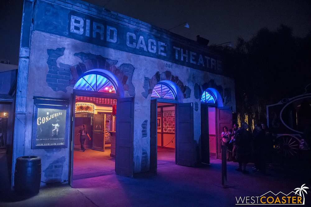 It's great to have the Bird Cage once again open during Haunt.