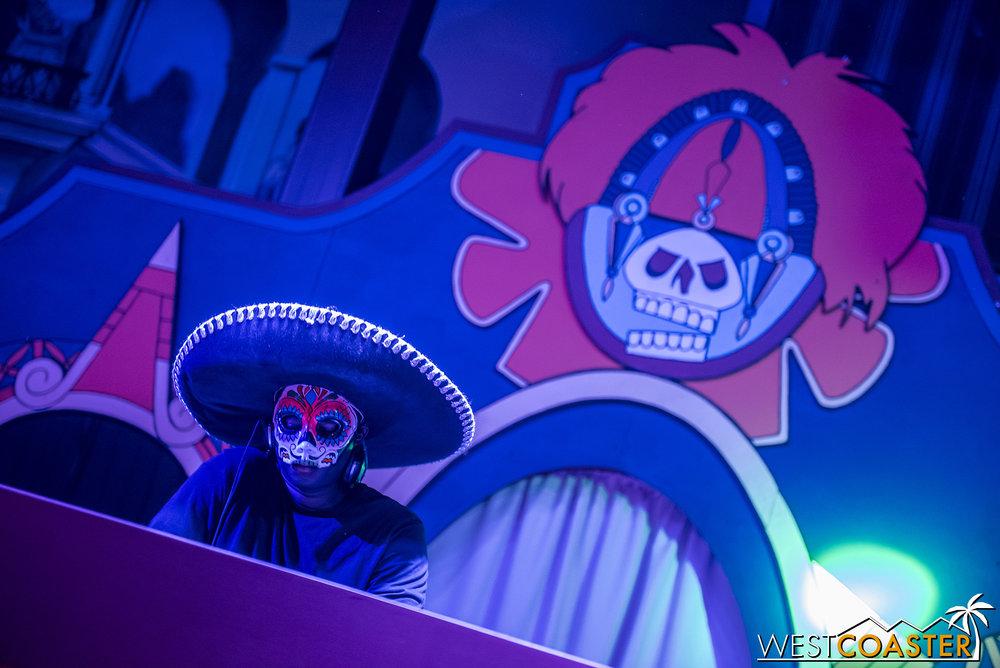 The house DJ in Fiesta Village.