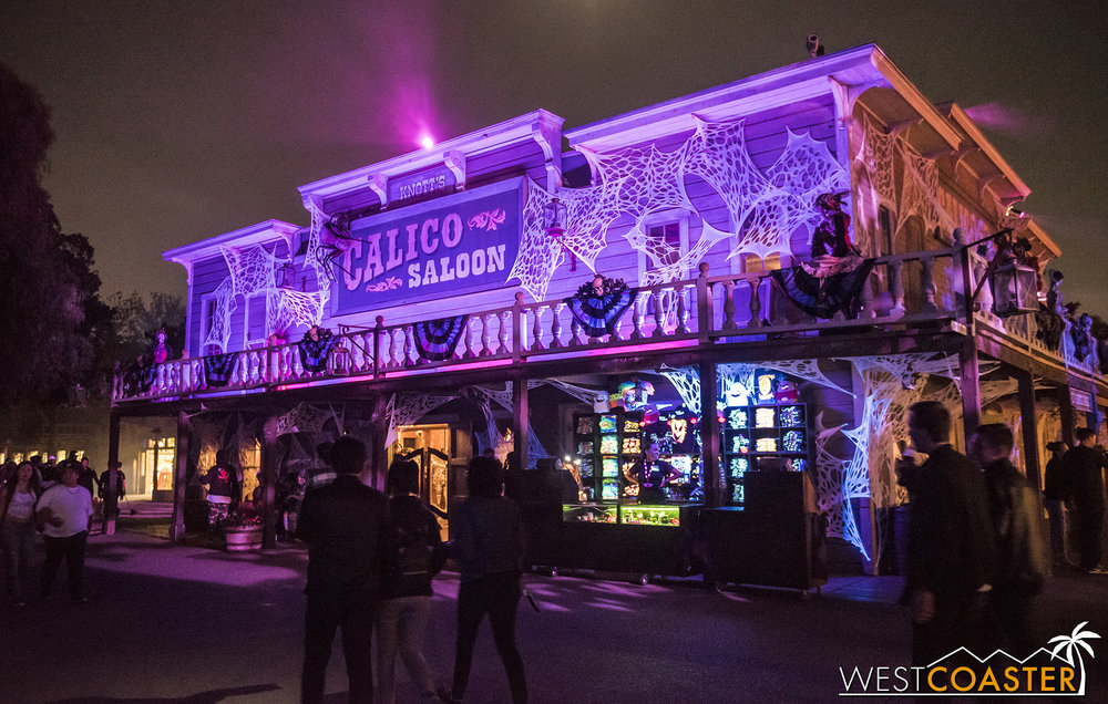 The Calico Saloon gets ghosts guests too.