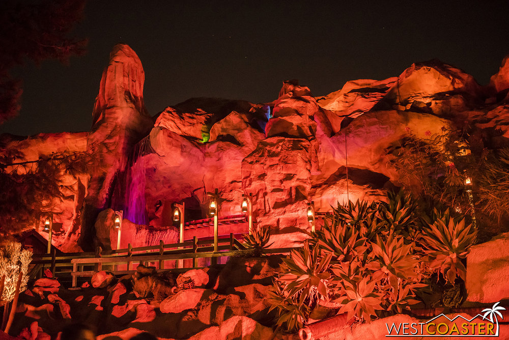 Though not themed for Halloween, the Mine Ride does look great at night!