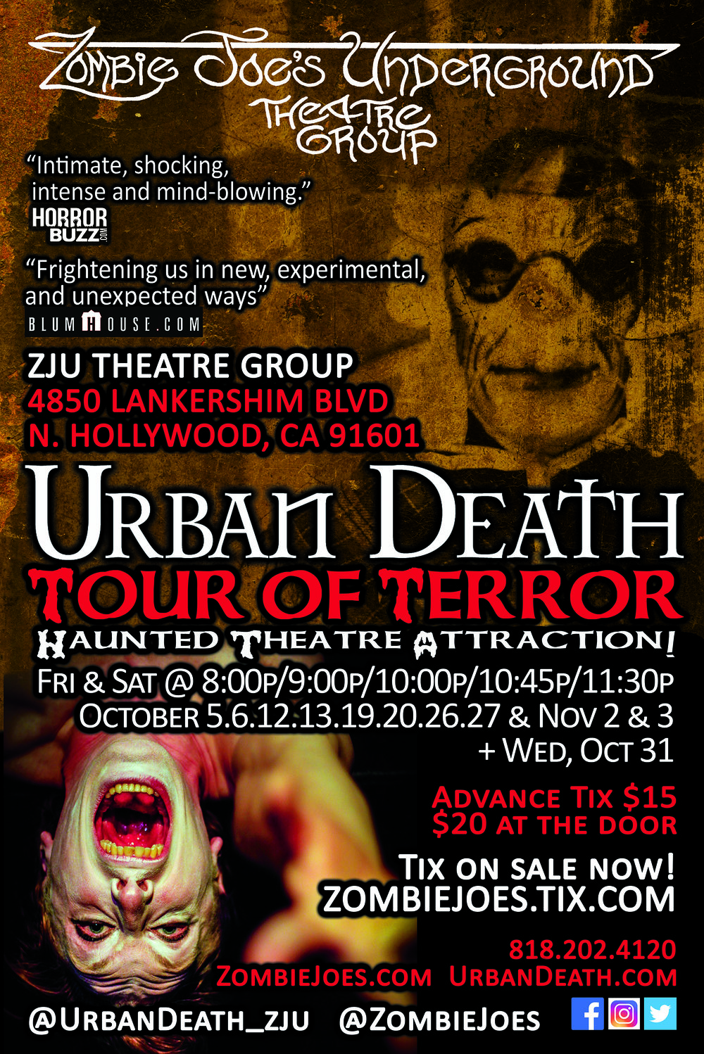 Poster courtesy of Zombie Joe's Underground Theatre Group.