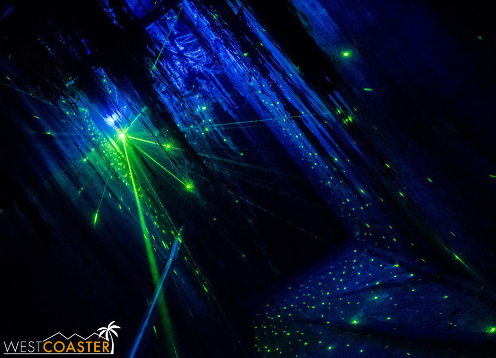 This laser tunnel probably doesn't totally fit the theme, but it  is  cool looking!