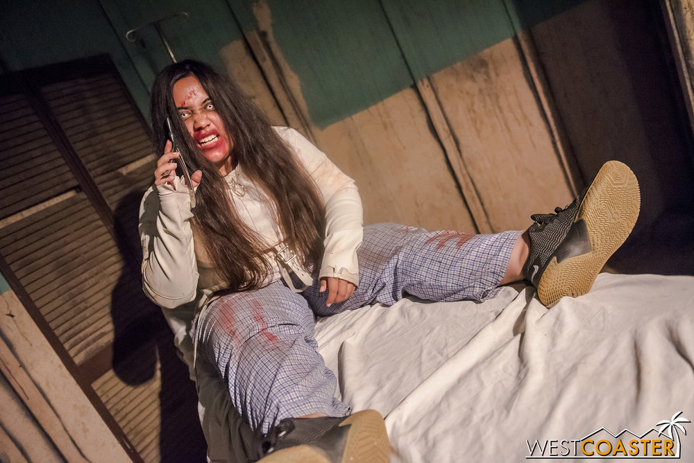 One of the many deranged patients at The Haunted Asylum.