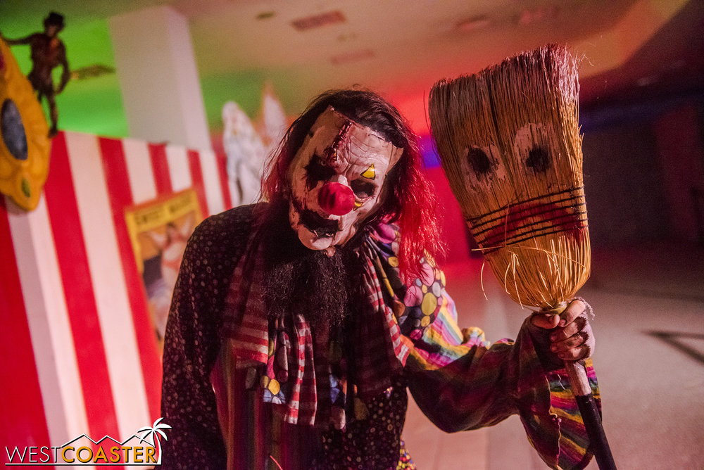 There are two main scare zones—one themed to clowns.