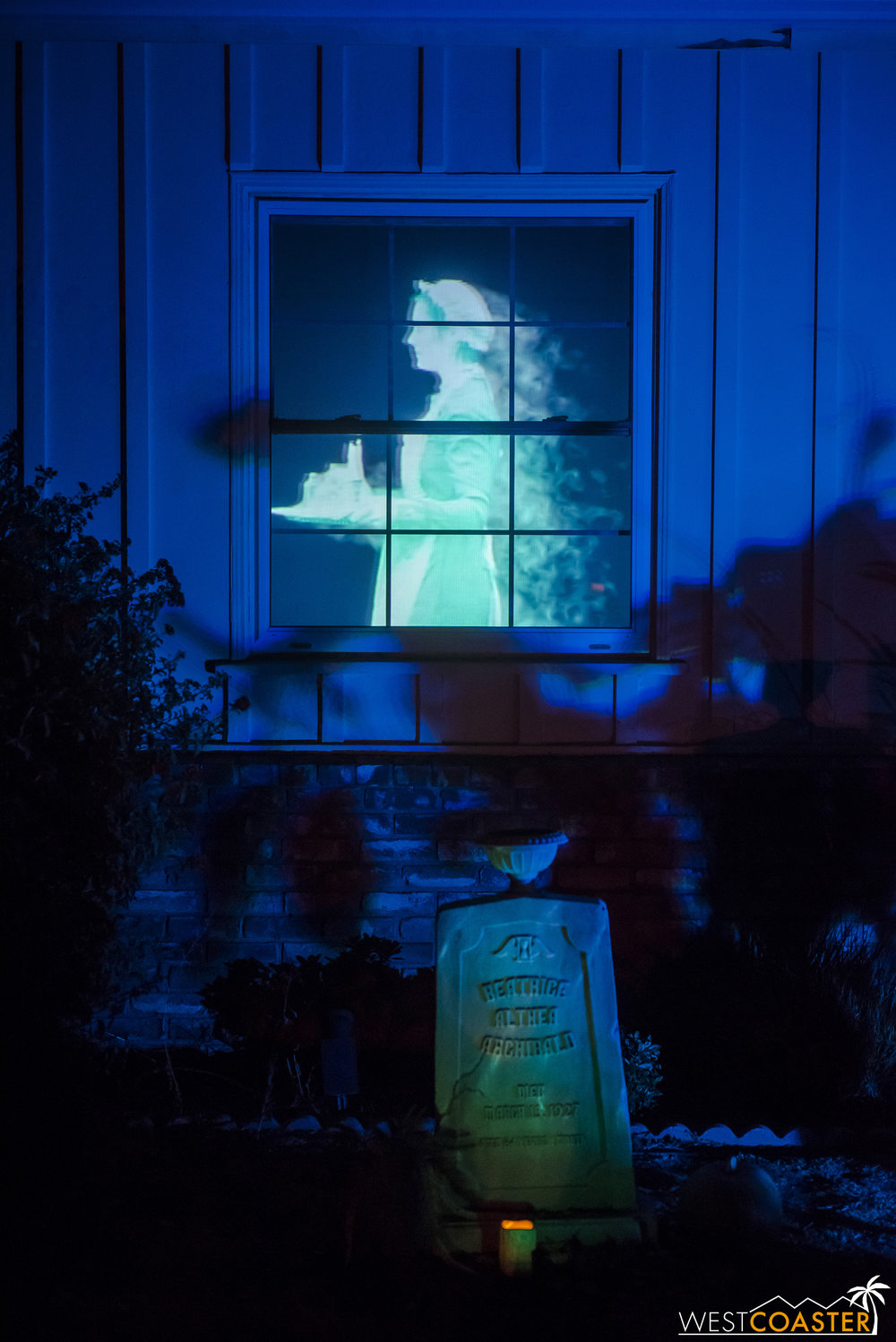 The projections at VanOaks Cemetery are really cool as well… and entirely custom handmade!