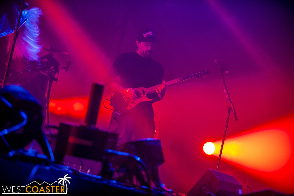Guitarist Josh Carter, deep in riff.