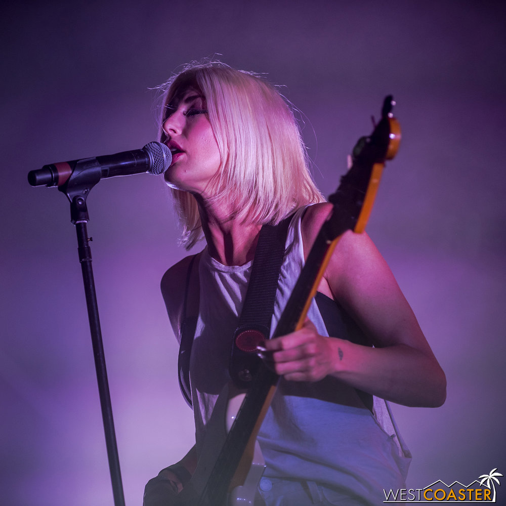 Phantogram's set started with tracks from their newest albums before ending with their older hits.