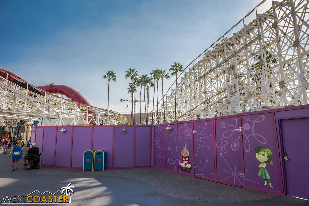 They've cleared out the obstructions so that they can work on the actual ride.
