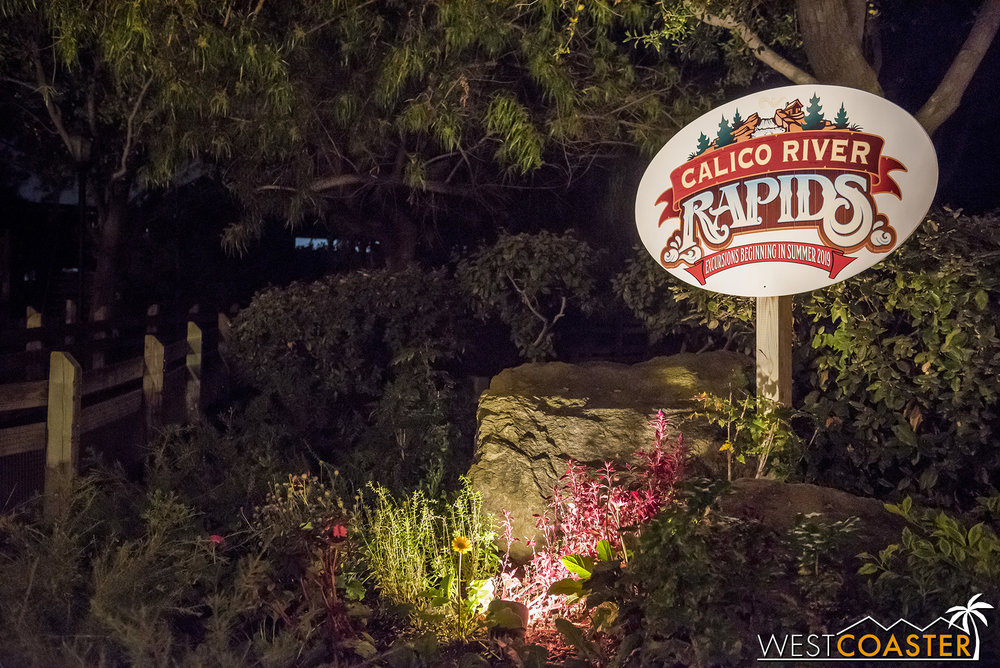 There's a new rapids coming soon!  Bigfoot Rapids is no more.  It's been down since the end of summer, and we   recently found out why  .