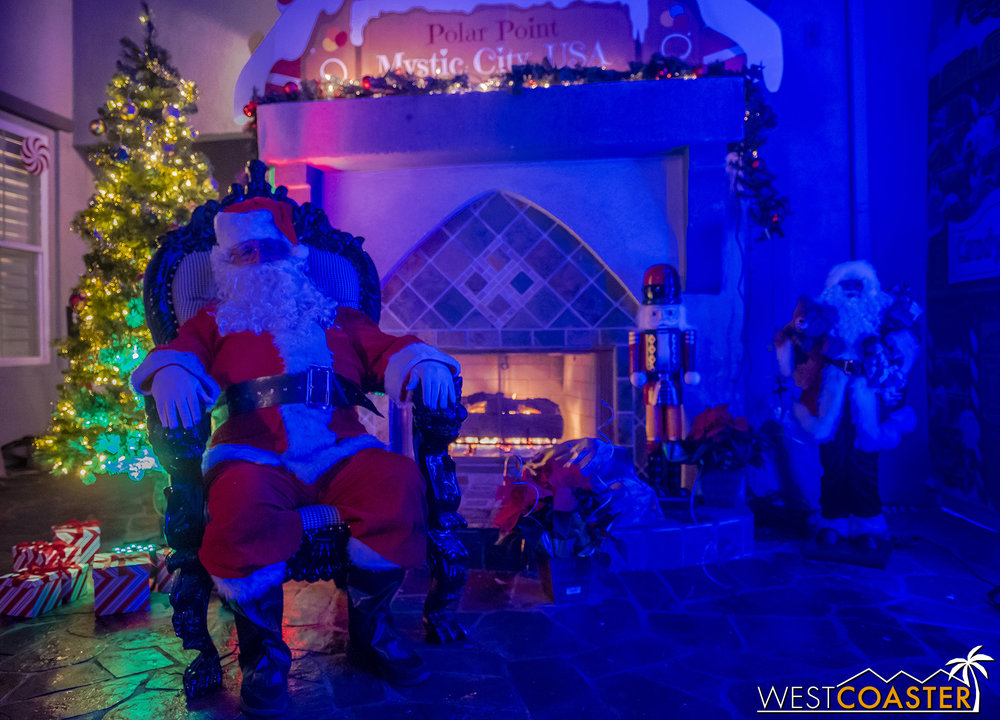 Guests can meet Santa after disembarking. After all, they've reached Polar Point!
