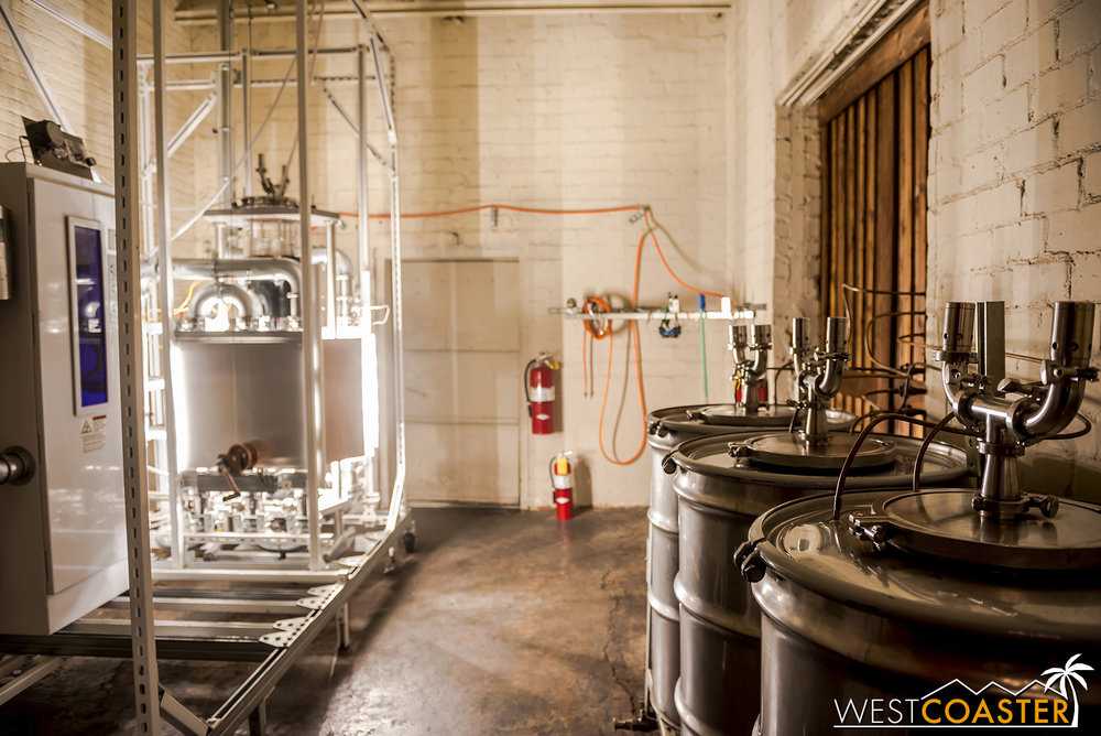 Lost Spirits' super hi-tech equipment used to super-accelerate the aging of its liquors.