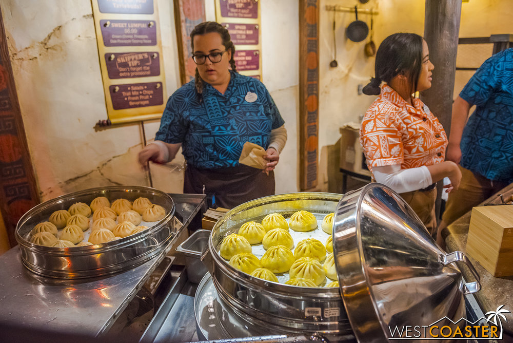 There's also a bao place that serves three different types of steamed buns.