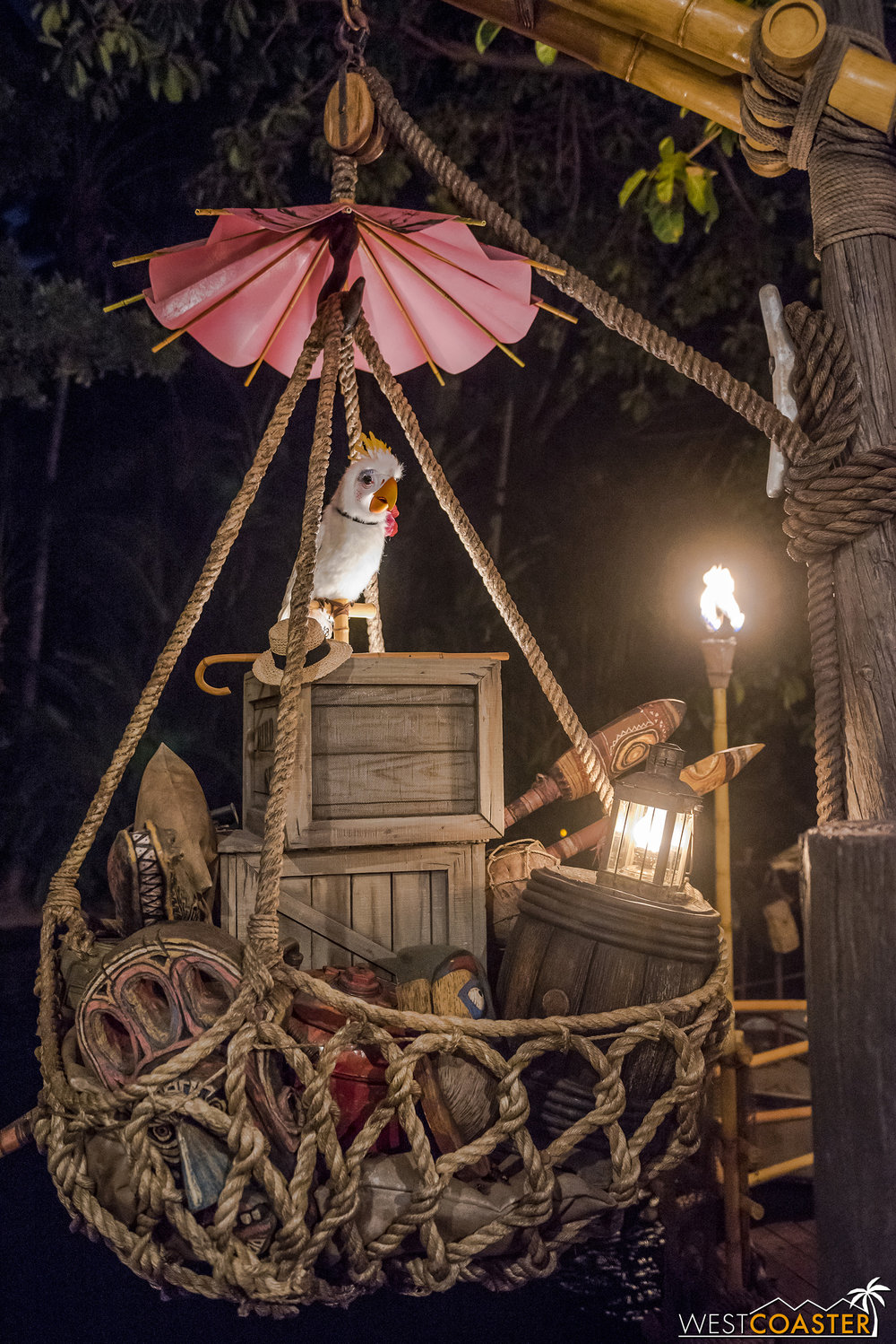 Finally, Rosita the Tiki Room bird has relocated out here.