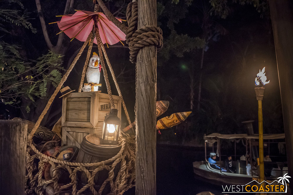 But she's a great feature to a wonderful addition to Adventureland!