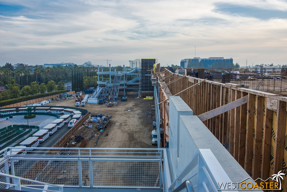 Once all of this is done, the tram will extend under the promenade and loop around the escalators, like it used to do.