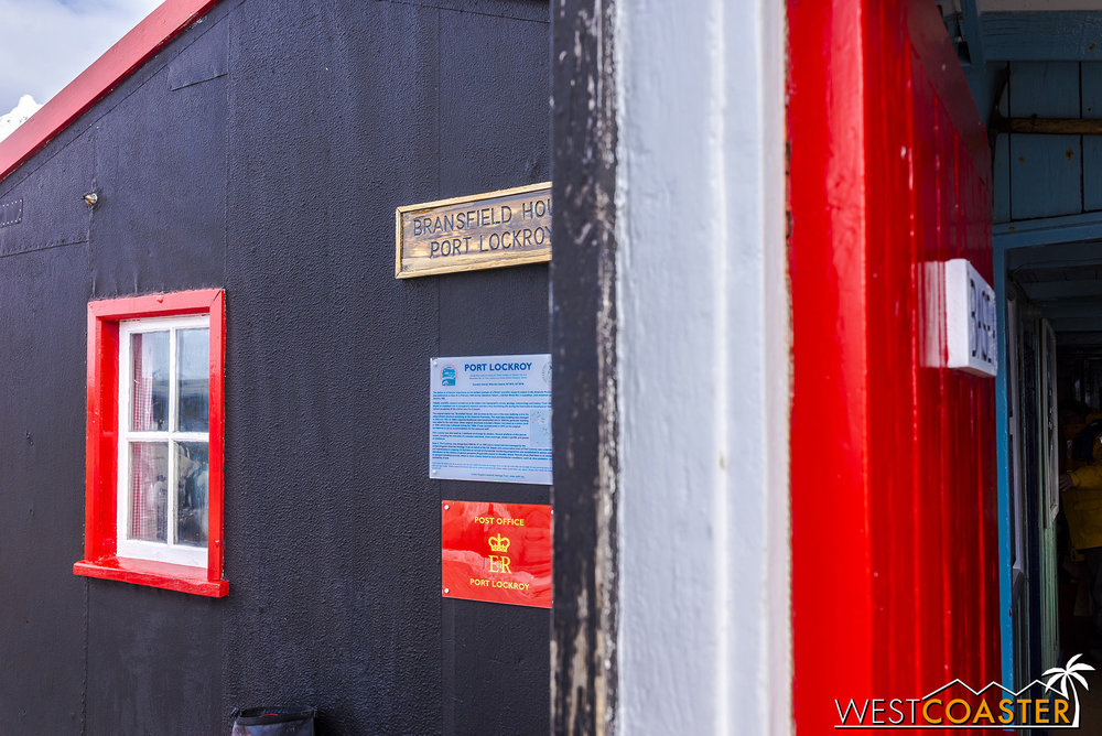 This historic site is also home to the most southerly post office in the world.