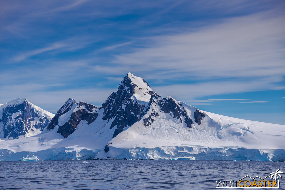 Strikingly photogenic peaks dot the landscape around Wilhelmina Bay.