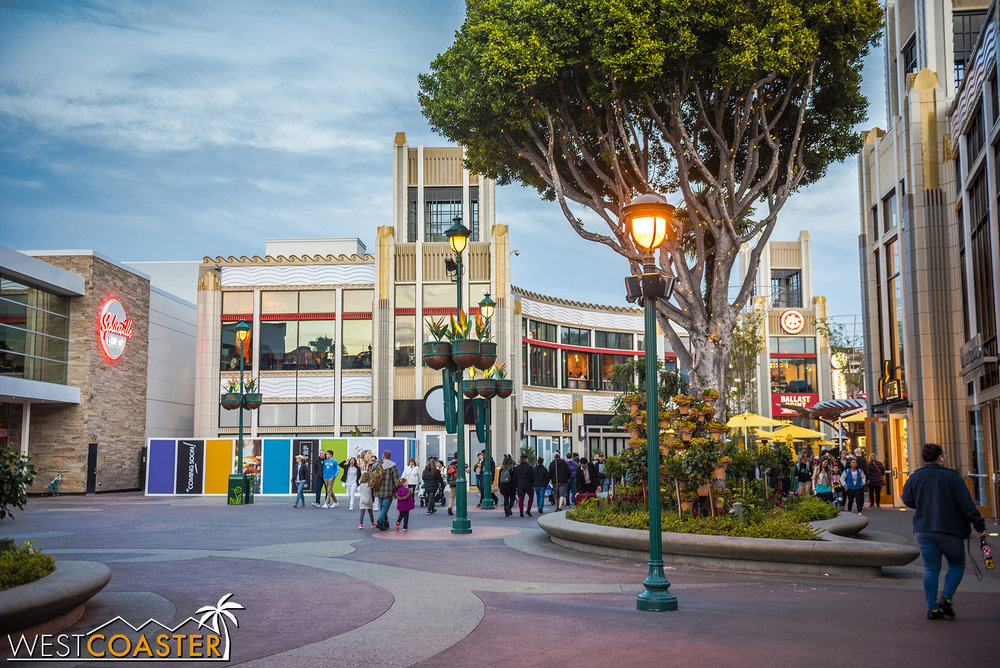 Our focus is on some of the last remaining portions of this past year's Downtown Disney renovations yet to be completed.