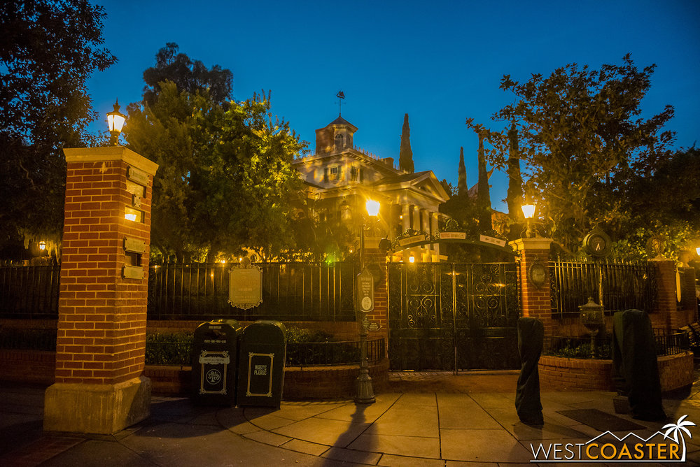 Haunted Mansion is closed as Jack Skellington leaves the premises.  It reopens this Friday.