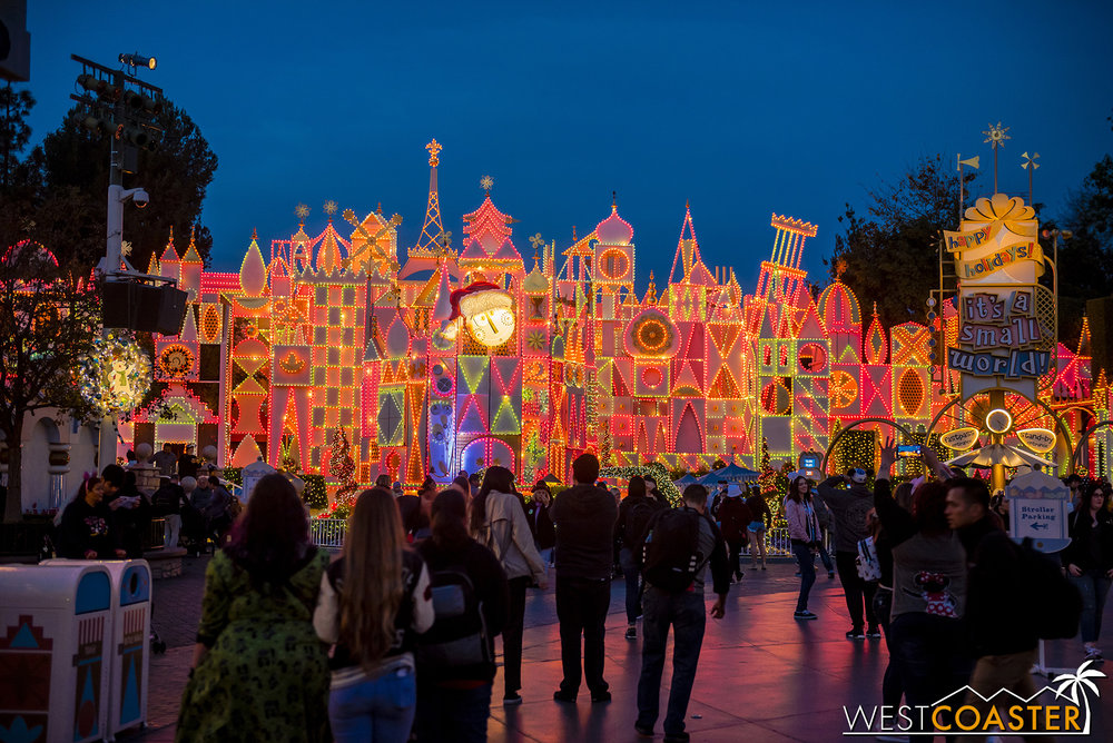 It's a Small World is still Christmas-y.