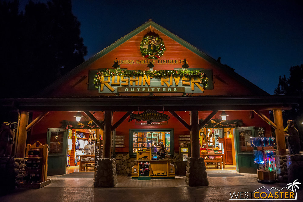 Holiday decorations were up at Grizzly Peak in California Adventure too.