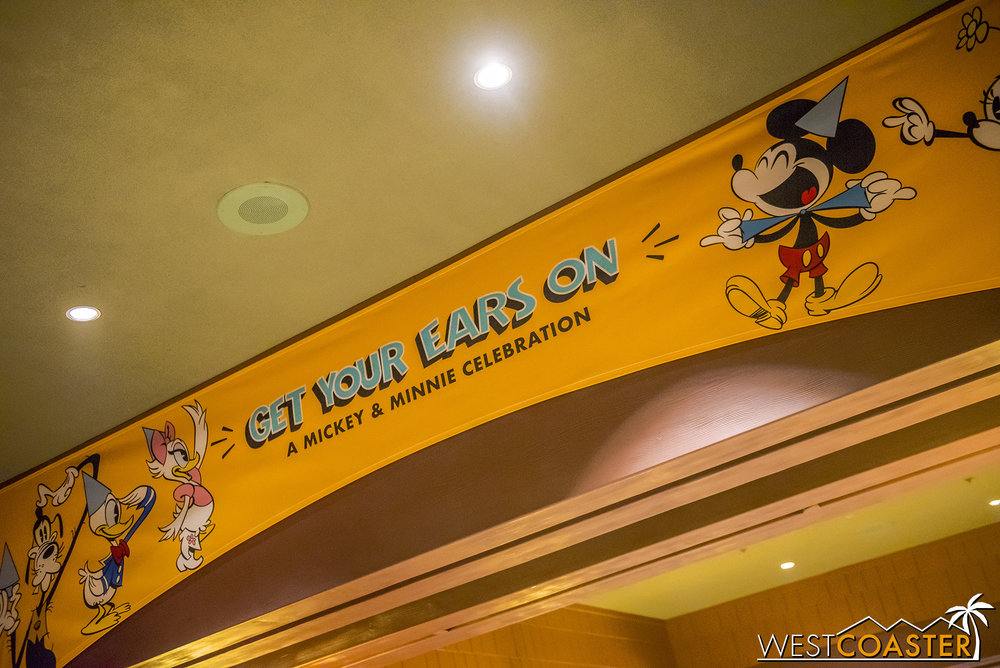 These banners are everywhere throughout the Resort… in Downtown Disney, along the streets, and even in the hotel areas.