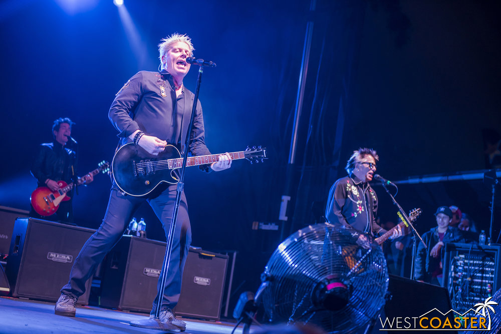 The Offspring will cap off the weekend again.
