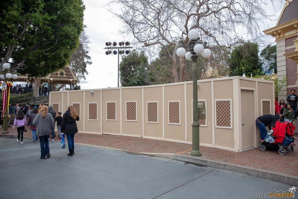 Walls are still up, but they're moving around a bit as they finish projects.