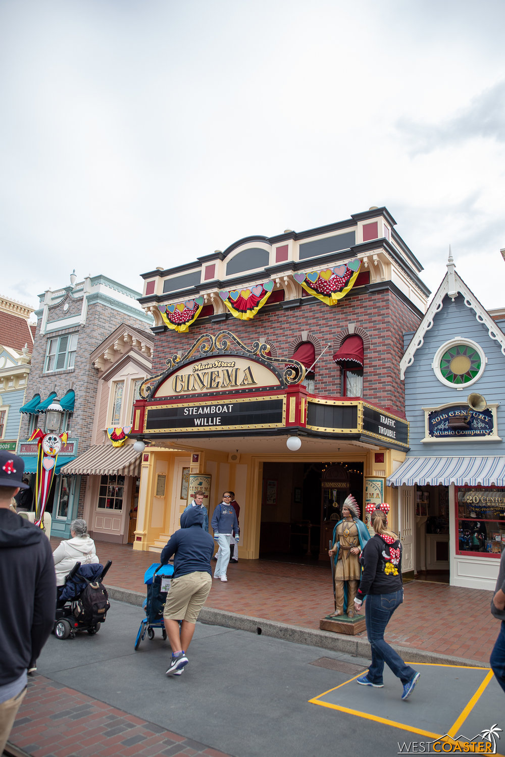 It's been noted before elsewhere, but we wanted to take time to point this out. The Main Street Cinema got repainted in a subtle, cute, and sort of obvious way.