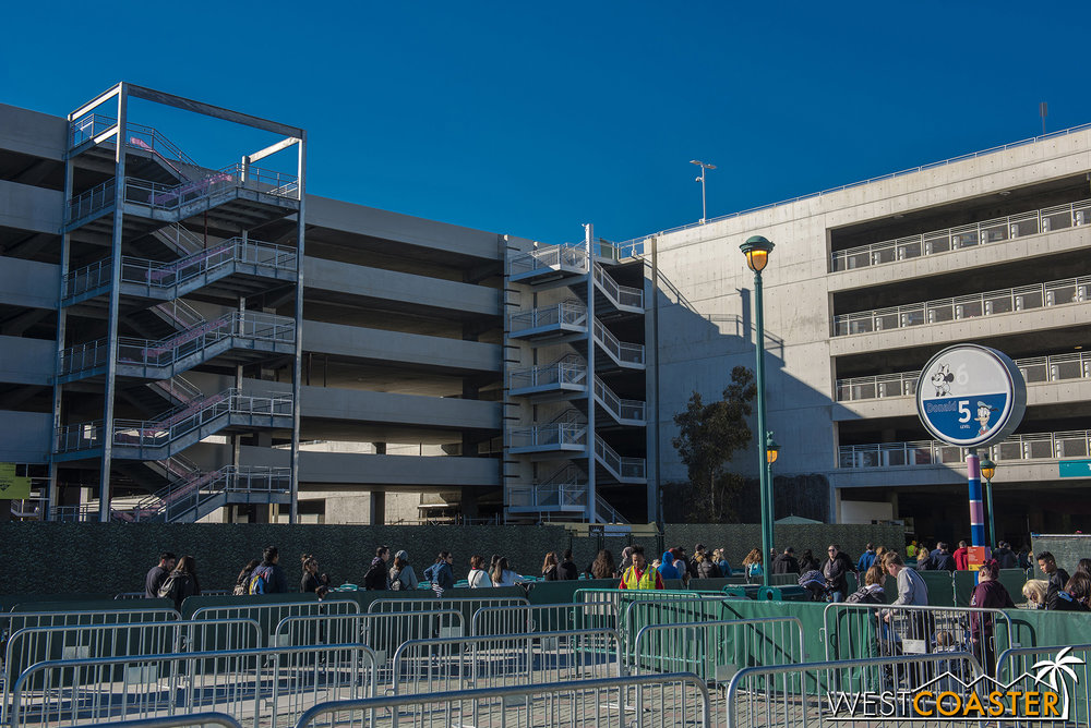 It's starting to look more and more like a part of the complex.  They'll need to paint those new stairs, though.
