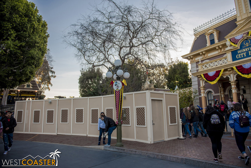 "After outfitting the curb with ramp cuts at Main Street's Town Square, they walled off the middle portion of the pavement to hide all the bodies that have perished working on ""Star Wars"" Land."