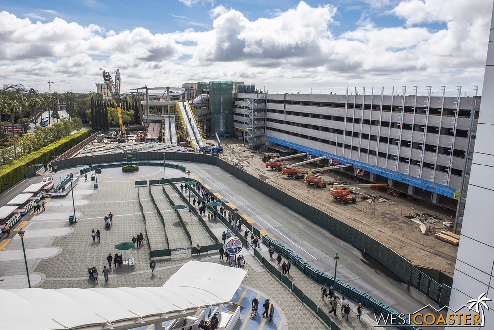 Instead, we're looking at new progress the past week at the parking structure expansion!