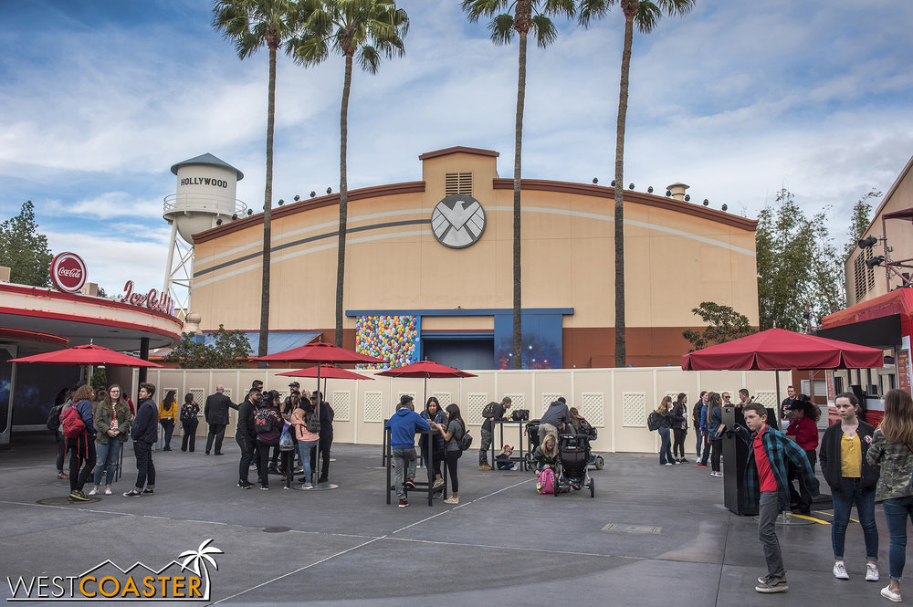 By the end of this week, we should have a really cool Captain Marvel meet-and-greet and photo op over here by Stage 12 / Hollywood Backlot Stage.