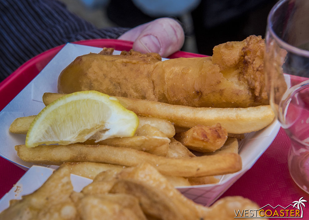 Returning this year is the Beer-battered Cod with Steak Fries and Spiced Remoulade.