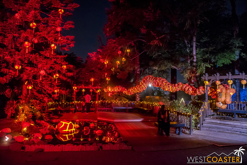 Red is a prominent color in Forbidden Pumpkin City.