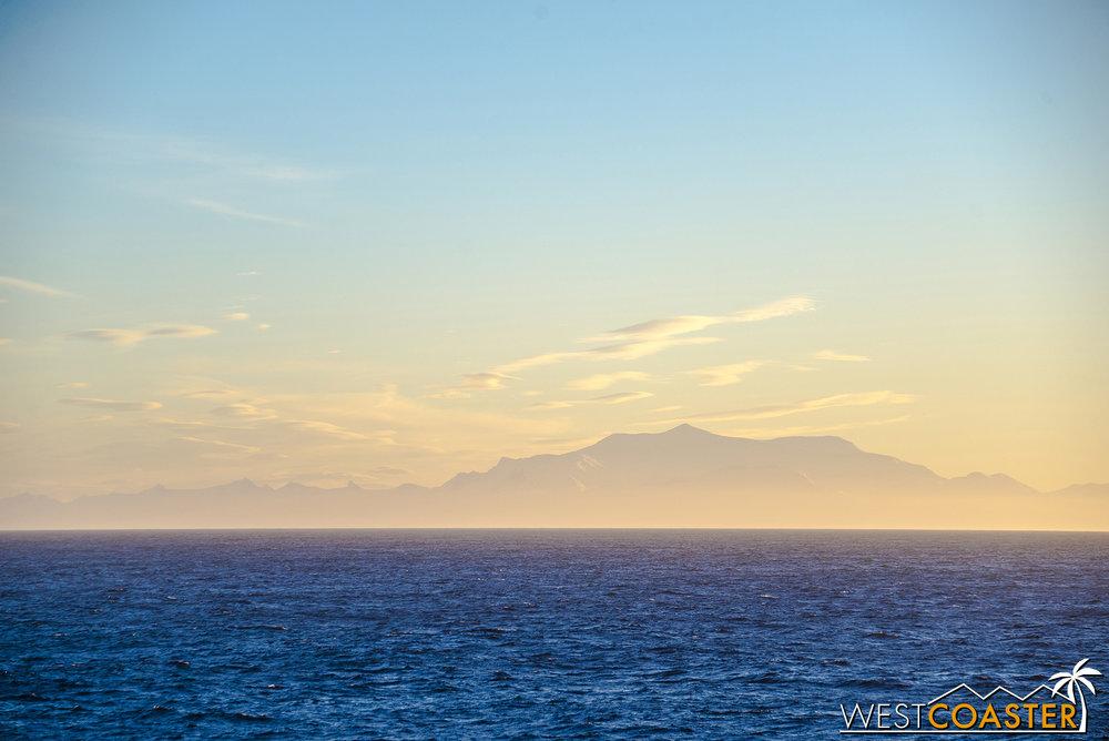 Shadows of the South Shetland Islands.