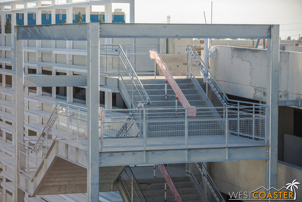 Another thing I noticed… the stairs over here are twice as wide as the typical stairs at the current parking structure!