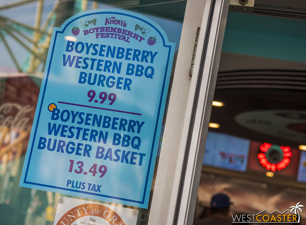 Nearby on the Boardwalk, more boysenberry grilled goods at Coasters Diner.
