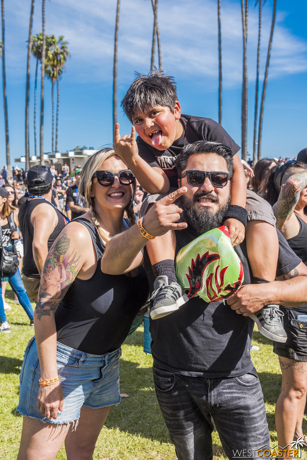 The family that rocks together stays together.