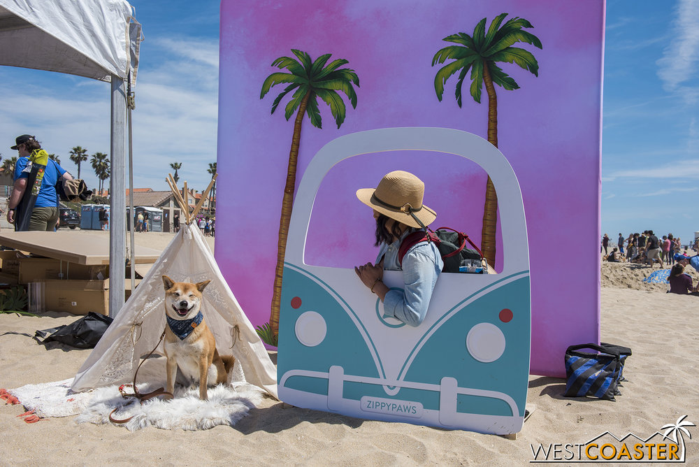 There were fun photo ops for dogs and owners too.  This guy probably felt a little demeaning, but hey… anything for the 'Gram?