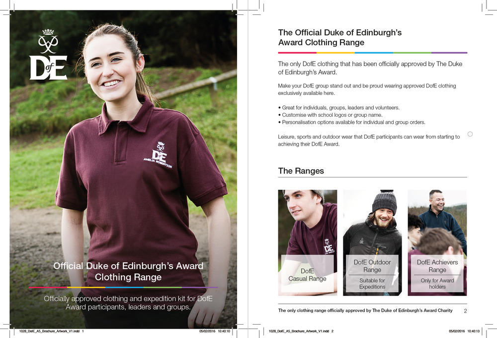 Duke of Edinburgh's Award Clothing Brochure