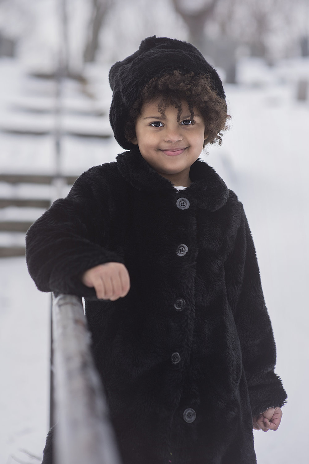 Winter Children's Street Photography!  Let it snow!
