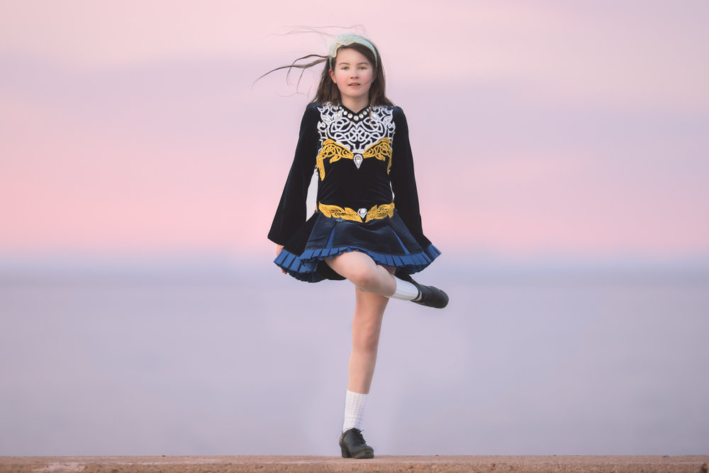 Irish Dancing at Sunset
