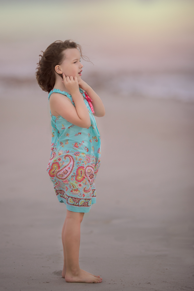 Beautiful Girl standing on Duxbury Beach