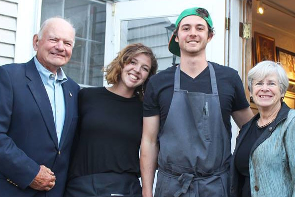 Owners, Alexandra and Chef Matt Haight with their grandparents Gordon and Donna Lewis.