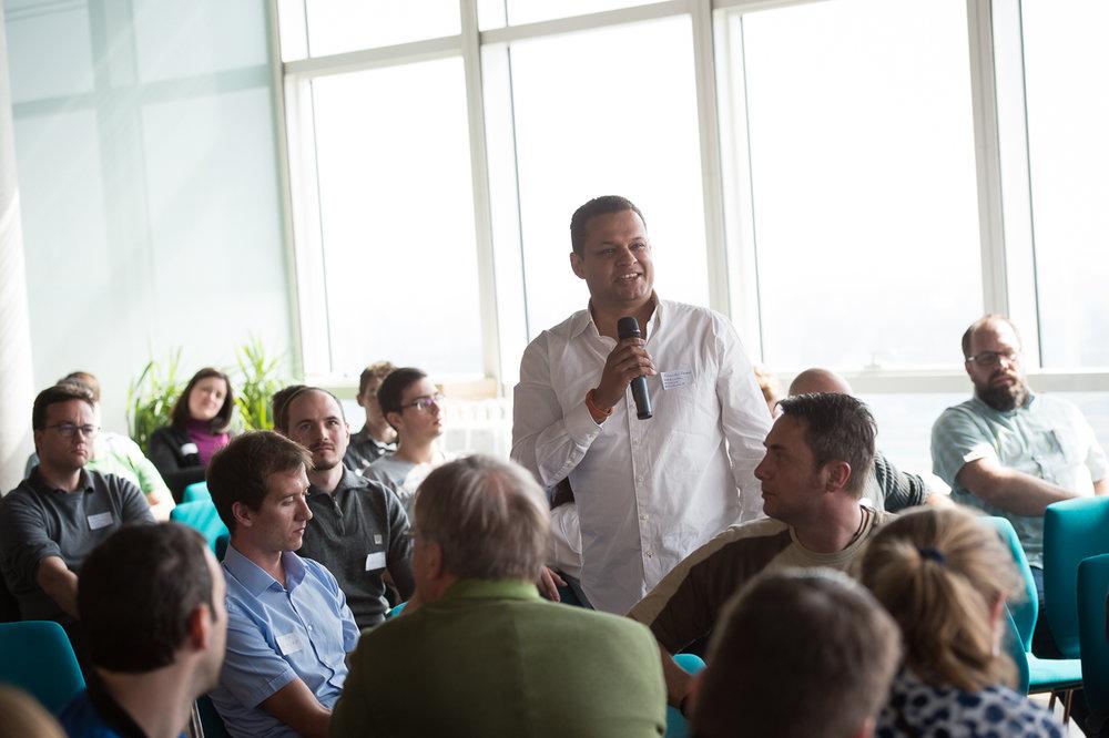Alexander Ramseier beim Kick-off-Barcamp am 2.4.2016 im Techgate