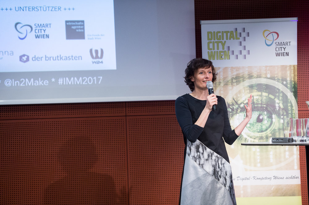 Sandra Stromberger (Initiatorin des Projekts Industry meets Makers)