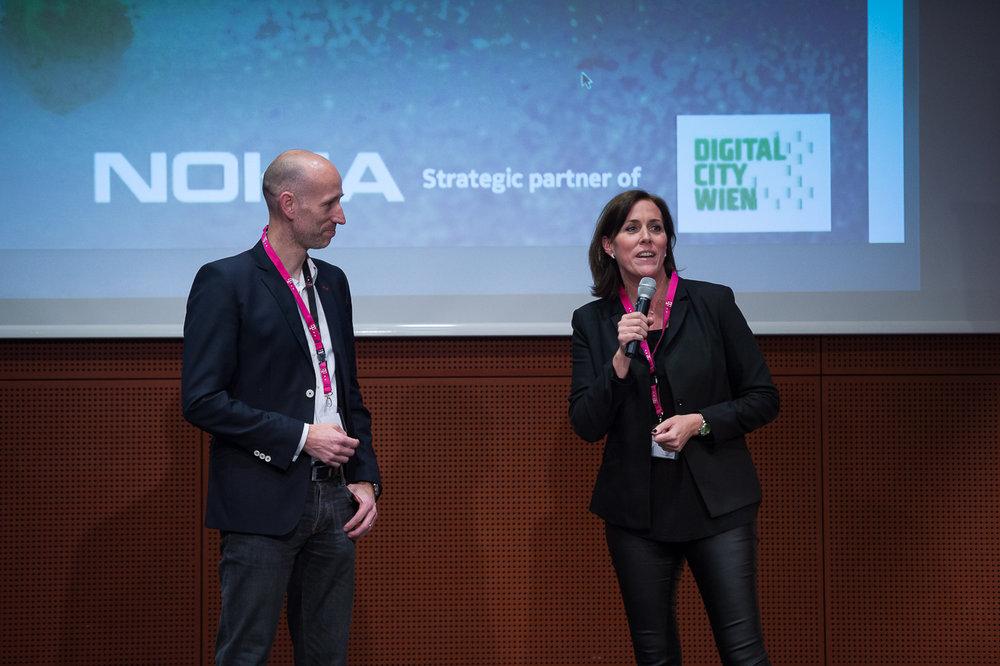 Bernd Richter und Sabine Lutz (Nokia Austria)
