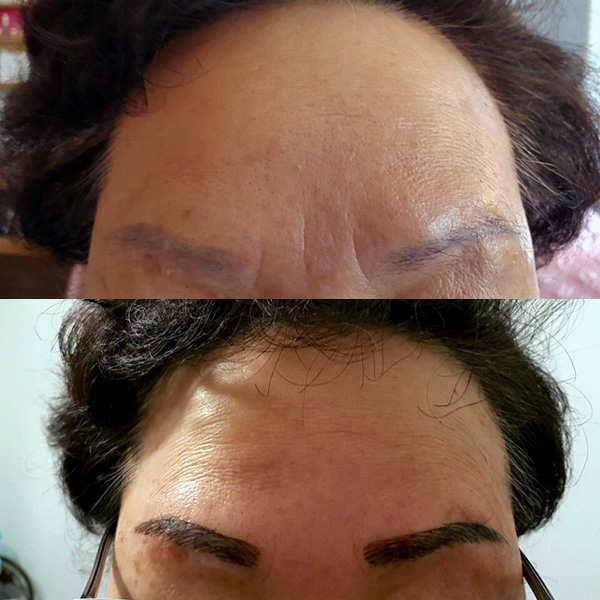 permanent eyebrow makeup tattoo 영구 눈썹 문신 시술