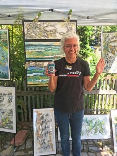 Cynthia Kollios at the JP Open Studios